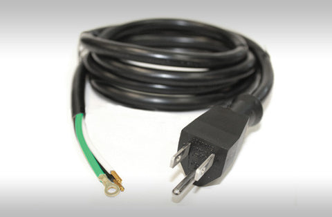 120V Male Power Cord w/Bare Wire End - 300V - 6' -14/3