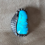 Authentic Vintage Navajo Ring with Huge Turquoise stone