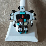 Vintage Zuni Inlay Ring with Eagle Design