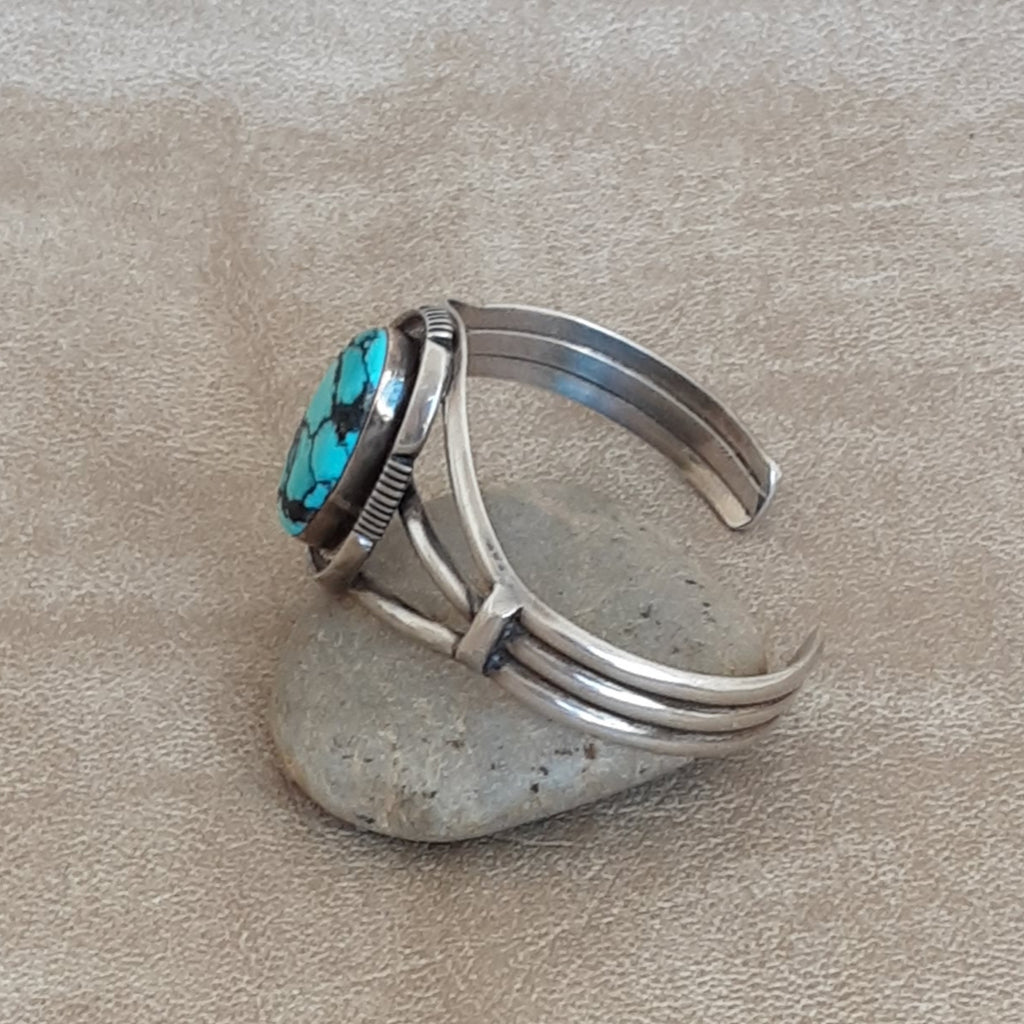 Navajo Native American Cuff with Genuine Turquoise  BMC248
