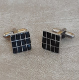 Zuni Inlay Black Jet Cuff Links for Men or Women