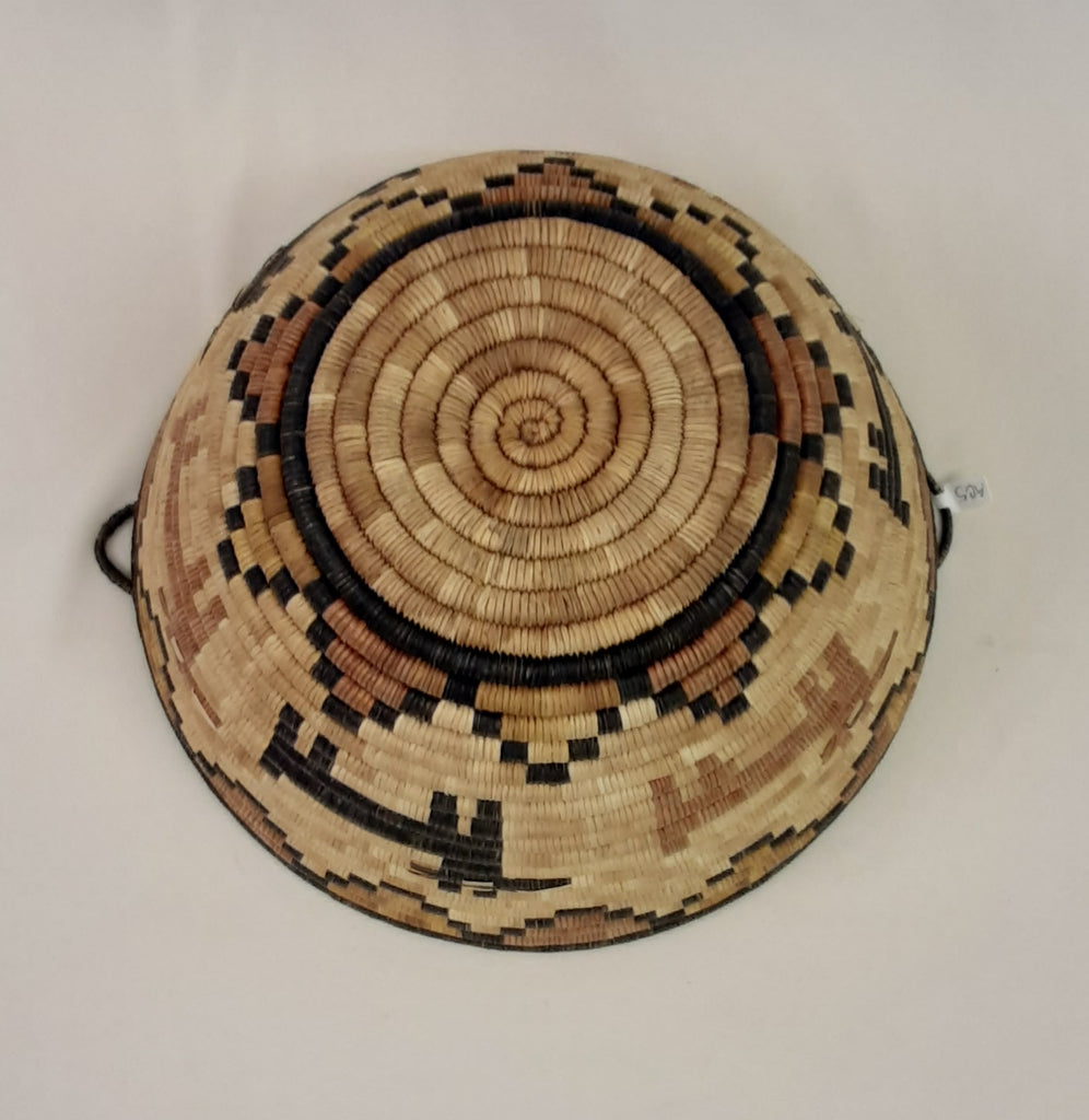 Genuine Hopi Coiled Basket with Animal Designs