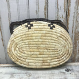Vintage Tohono O'odham Papago Coiled Wall Basket with Butterfly Design