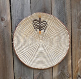 "Sally Black, Navajo - Coiled Basket Title, "" Beginning of Life"""