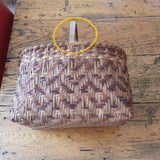 Peggy Brennen -Cherokee Oak Splint Vintage Single Twill Carrying Basket   NL22
