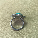 Navajo Native American Vintage Ring with Green Turquoise   MD15