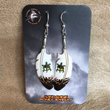 Handmade Bone Eagle Feather with Turtle Dangle Earrings by Lonny Cloud, Standing Rock Lakota & Lumbee Nation 0/67