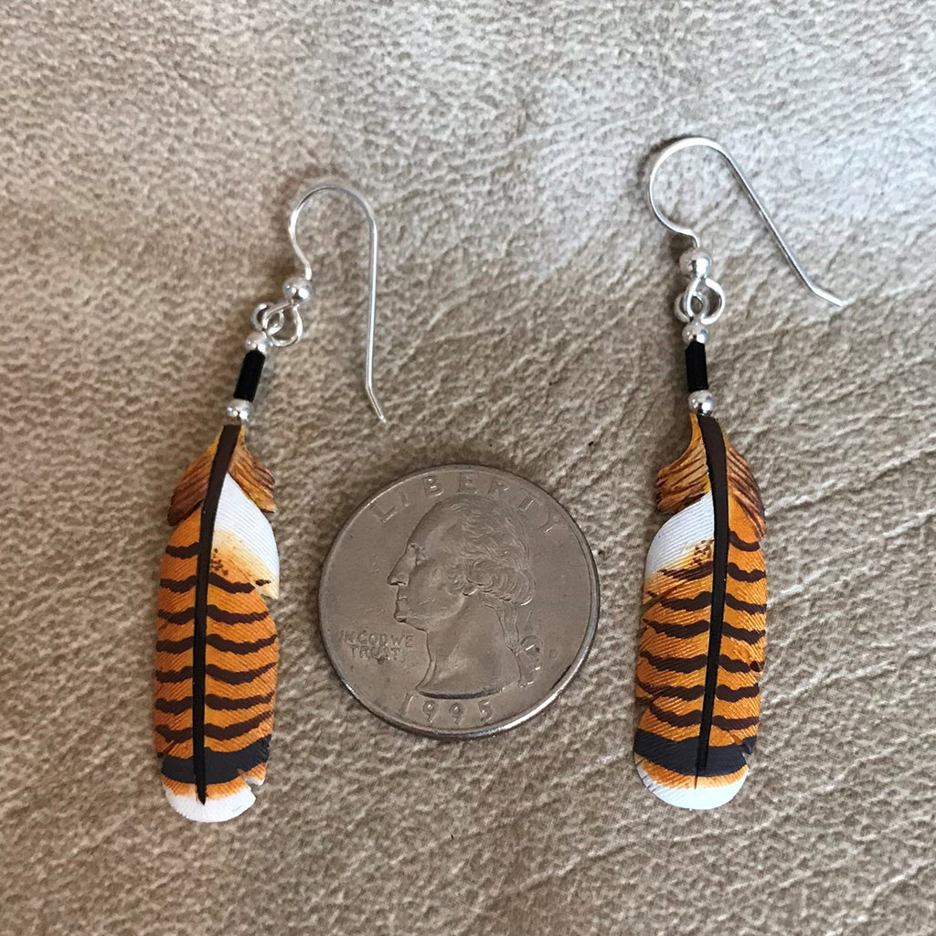 Handmade Bone Red Tailed Hawk Dangle Earrings by Lonny Cloud, Standing Rock Lakota & Lumbee Nation 0/68