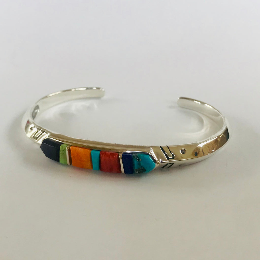 Supersmith Multi Stone Cobblestone Inlay Bracelet Designed by David Rosales  0/144