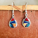 Supersmith Multi Stone Inlay Dangle Earrings Designed by David Rosales  0/133