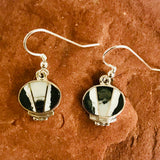 Supersmith Contemporary Navajo Inlay Dangle Earrings with Natural White Buffalo Designed by David Rosales 0/119
