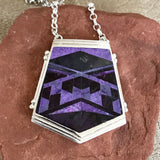 Supersmith Navajo Necklace with Light and Dark Purple Sugalite Designed by David Rosales 0/137