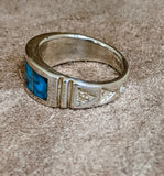 Handmade Native American Turquoise Inlay Ring