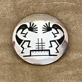 Kokopelli Design Genuine Hopi Overlay Pin Pendant by Norman Honie Jr.  KD324