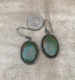 Kings Manassa Turquoise Navajo dangle earring with Handmade Ear Wire  KD383