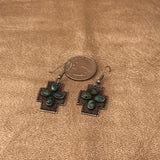 Gary Reeves - Navajo Four Directions Earrings with Green Turquoise  0/46