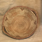 Jicarilla Apache Vintage Coiled basket with Diamond and Cross Design 1920's  NL5