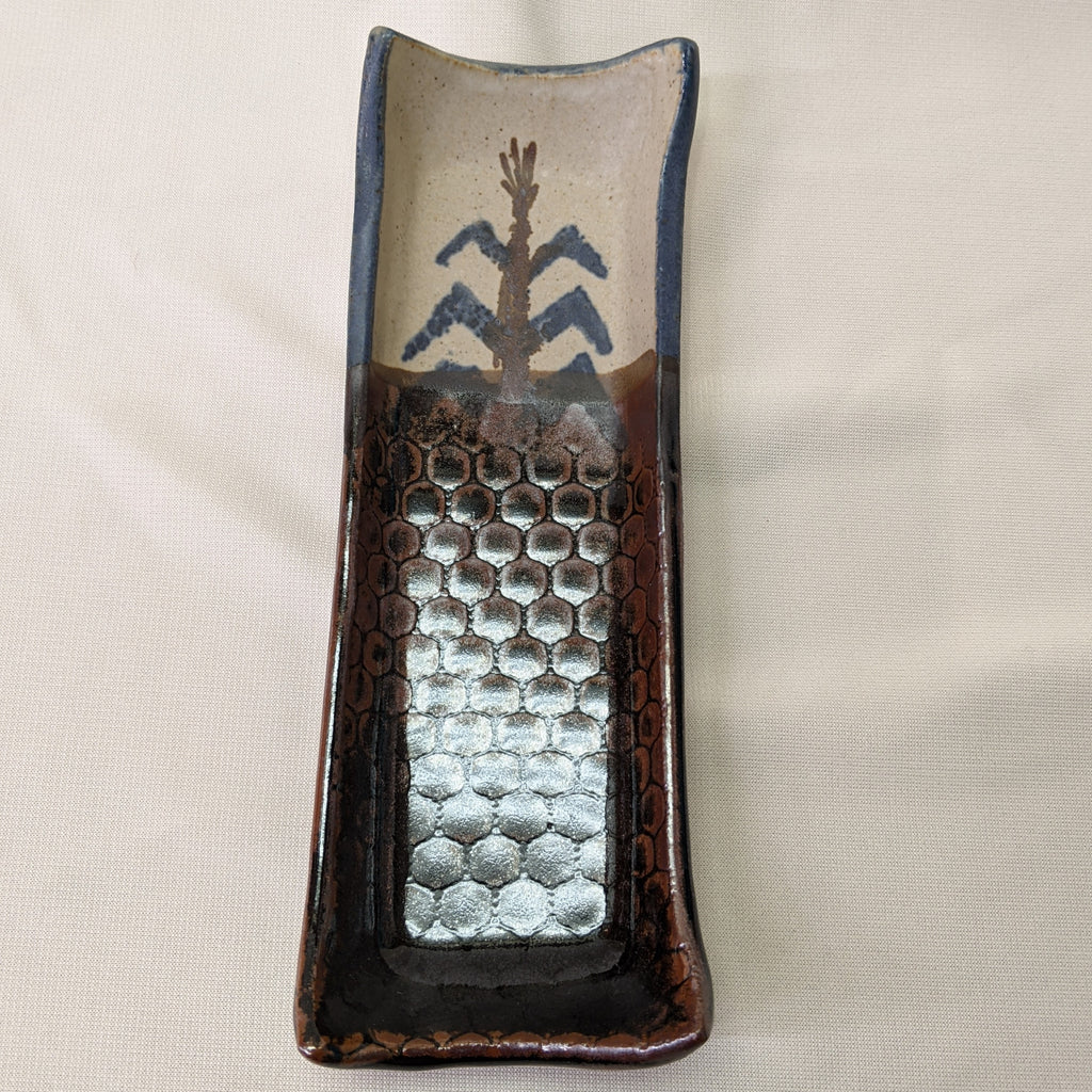 Handmade Native American Butter Dish with Corn Design by Mel Cornshucker 0/93