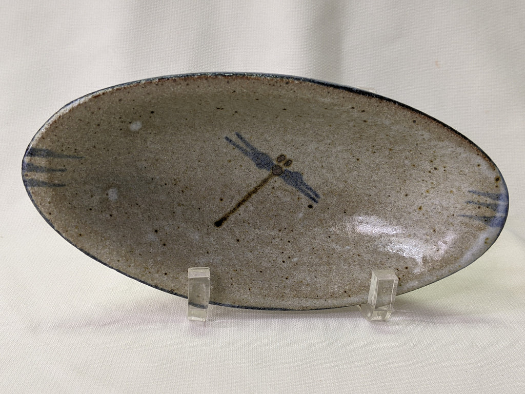 Small Native American Dragonfly Dish by Cherokee Artist Mel Cornshucker 0/98