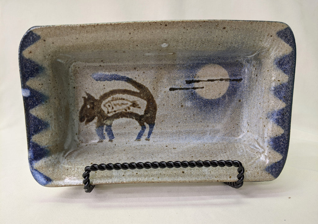 "Loaf ""Pan"" with Mountain Lion  by Cherokee Artist Mel Cornshucker 0/95"