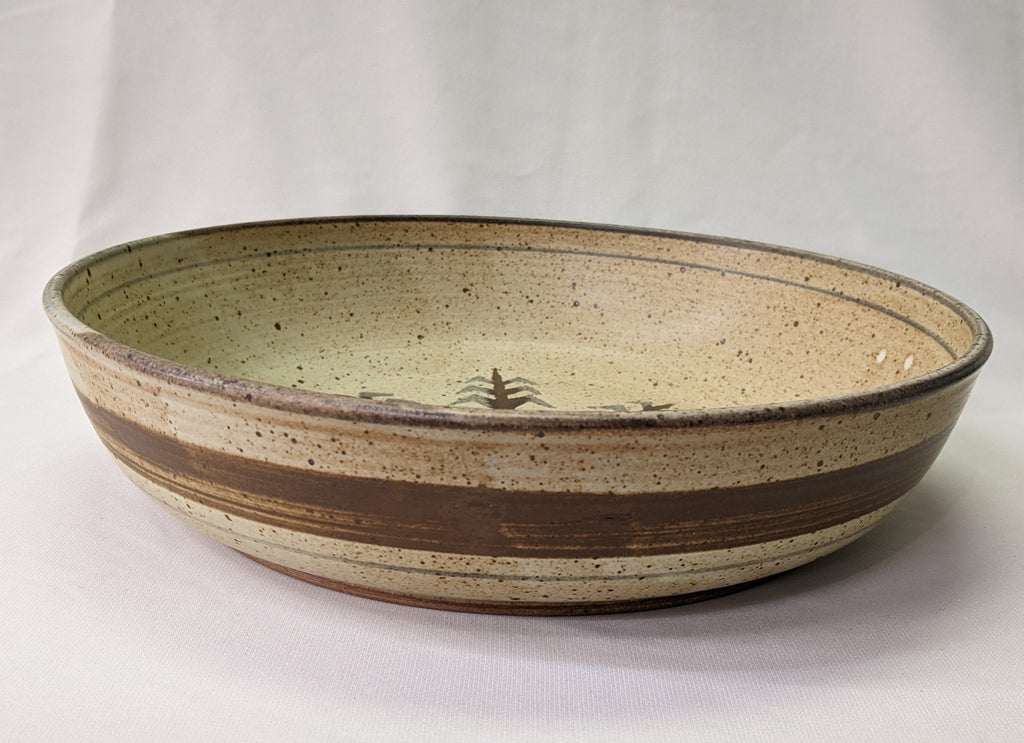 Large Native American Pasta Bowl with Corn Design by Cherokee Artist Mel Cornshucker 0/81