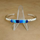 Supersmith Inlay Bracelet with Lapis, Denim Lapis & Opal Designed by David Rosales 9/183