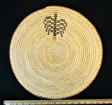 "Coiled basket by Sally Black, Navajo - Title, "" Beginning of Life"""