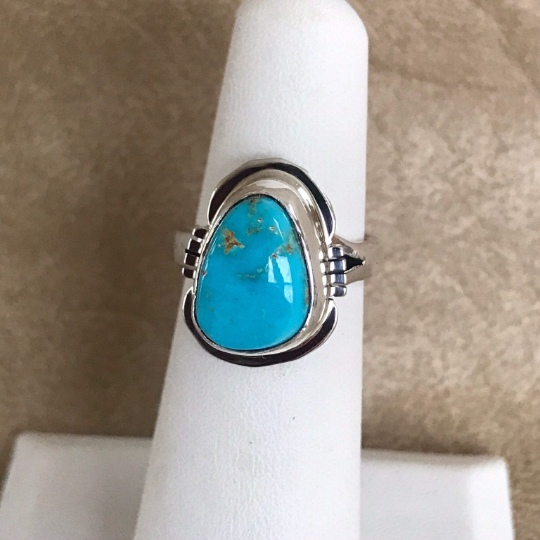 Navajo Blue Bird Turquoise Ring- Genuine Native American  1/60