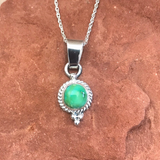 "Navajo Sonoran Turquoise Pendant on 18"" Chain - Genuine Native American 1/43"
