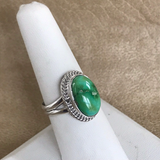 Navajo Green Sonoran Turquoise Ring- Genuine Native American  1/56