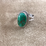 Navajo Green Sonoran Turquoise Ring- Genuine Native American  1/55