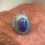 Navajo Charoite Ring- Genuine Native American  1/62