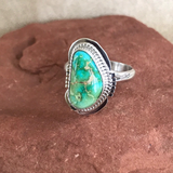 Navajo Green Sonoran Turquoise Ring- Genuine Native American  1/54