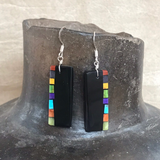 Mary Louise Tafoya, Kewa (Santo Domingo) Pueblo Multi Stone Mosaic Earrings on Turquoise 0/185