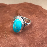 Navajo Blue Bird Turquoise Ring- Genuine Native American  1/61