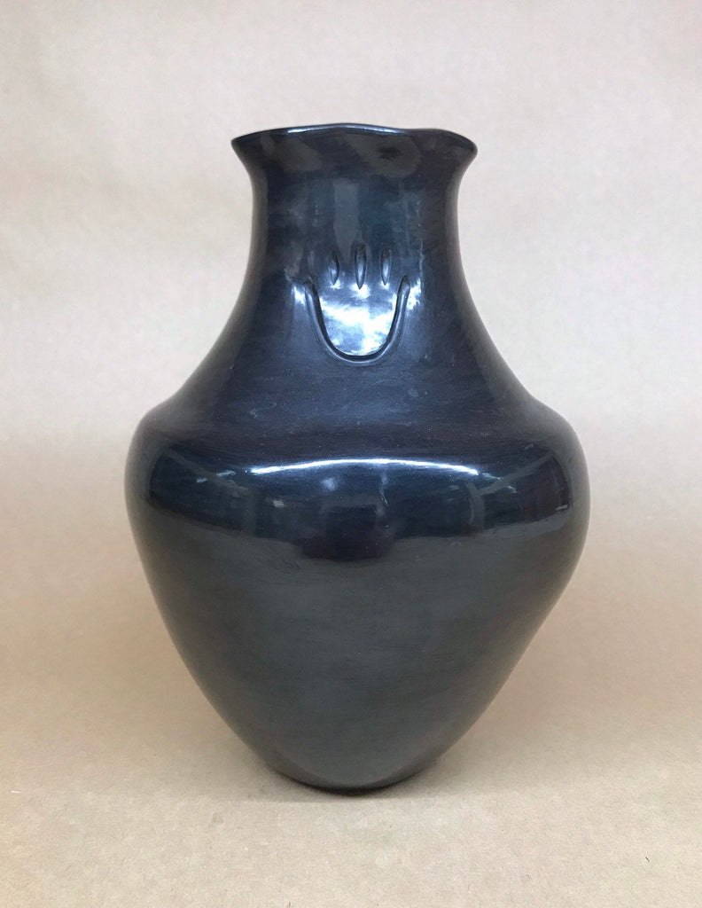 Sharon Naranjo Garcia, Santa Clara black pottery with Bear Paw