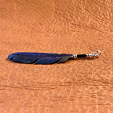 Handmade Bone Raven Feather Pendant by Lonny Cloud, Lakota 1/101