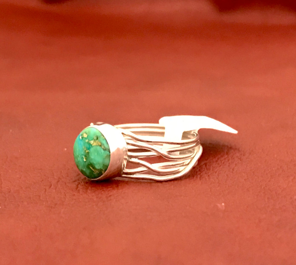 Sterling Silver Ring with Sonoran Turquoise