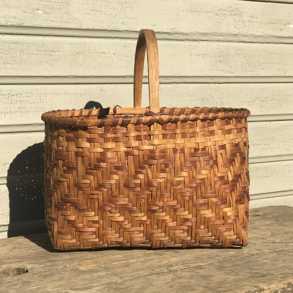Cherokee Oak Splint Vintage Single Twill Carrying Basket   NL22