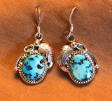Genuine Native American made Navajo Earrings with Turquoise