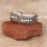 Ben Nighthorse, Northern Cheyenne genuine Sterling Silver Spirit Figure Design Small Cuff  DS15