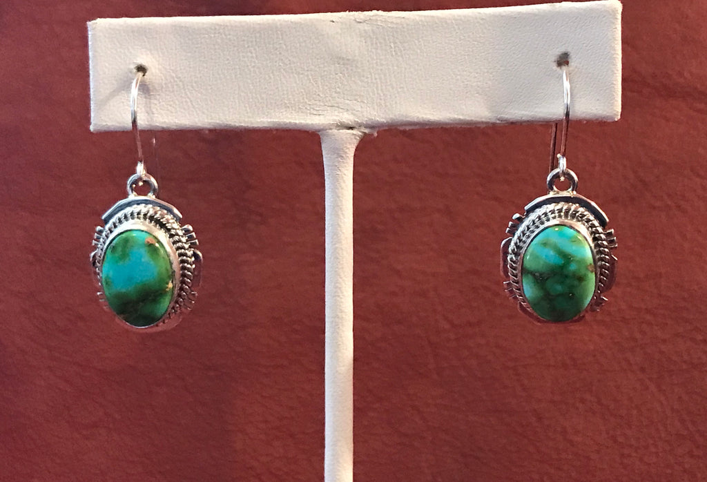 Authentic Navajo Earrings with Sonoran Turquoise
