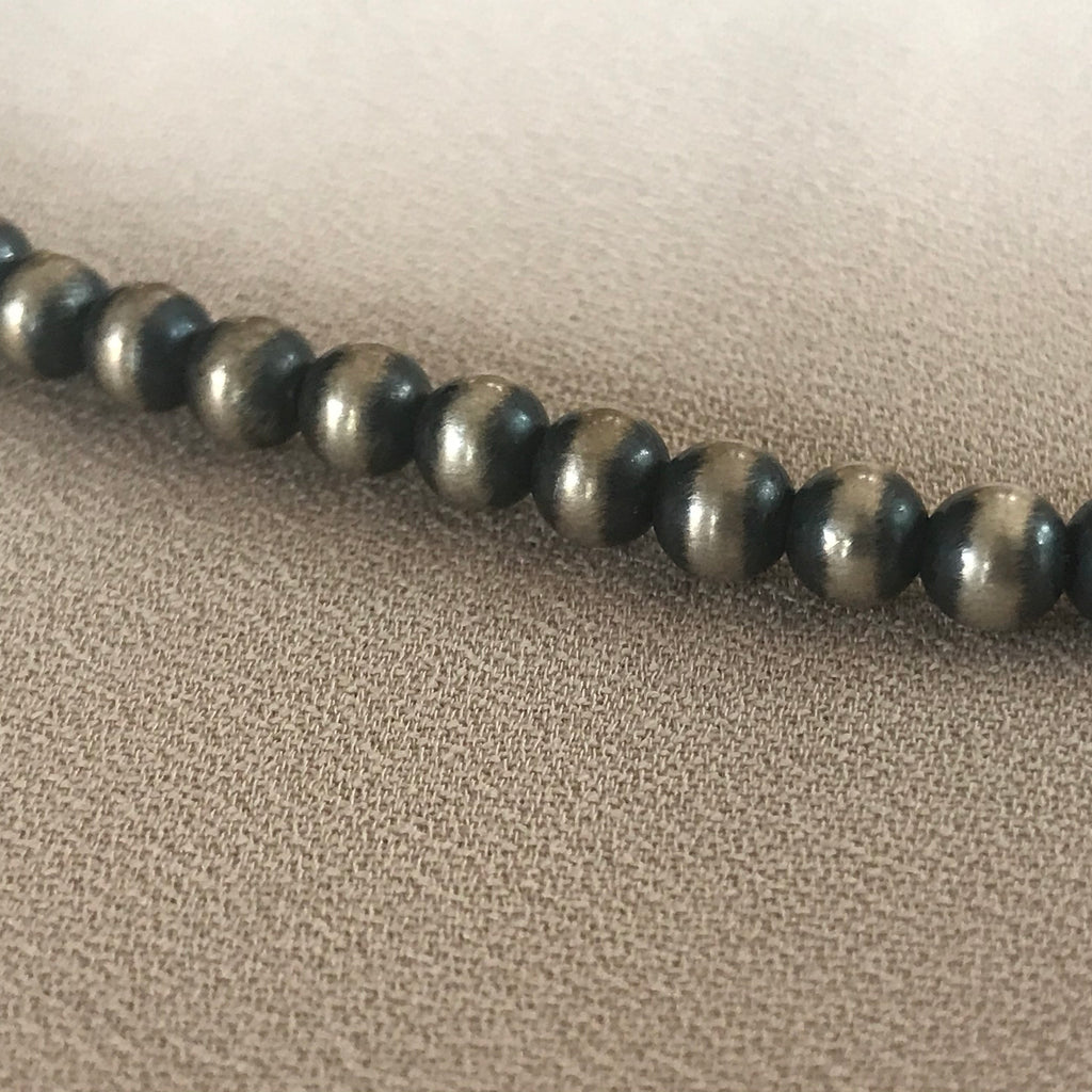 Sterling Silver Genuine Small Navajo Beads   KD