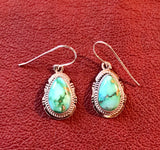 Navajo Earrings with Sonoran Turquoise