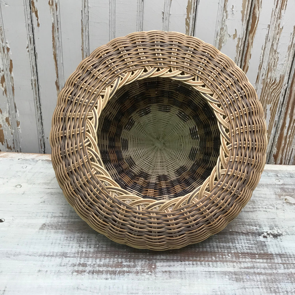 Squirrel Croslin, Jr. Cherokee double wall Honeysuckle Braid Basket AC2