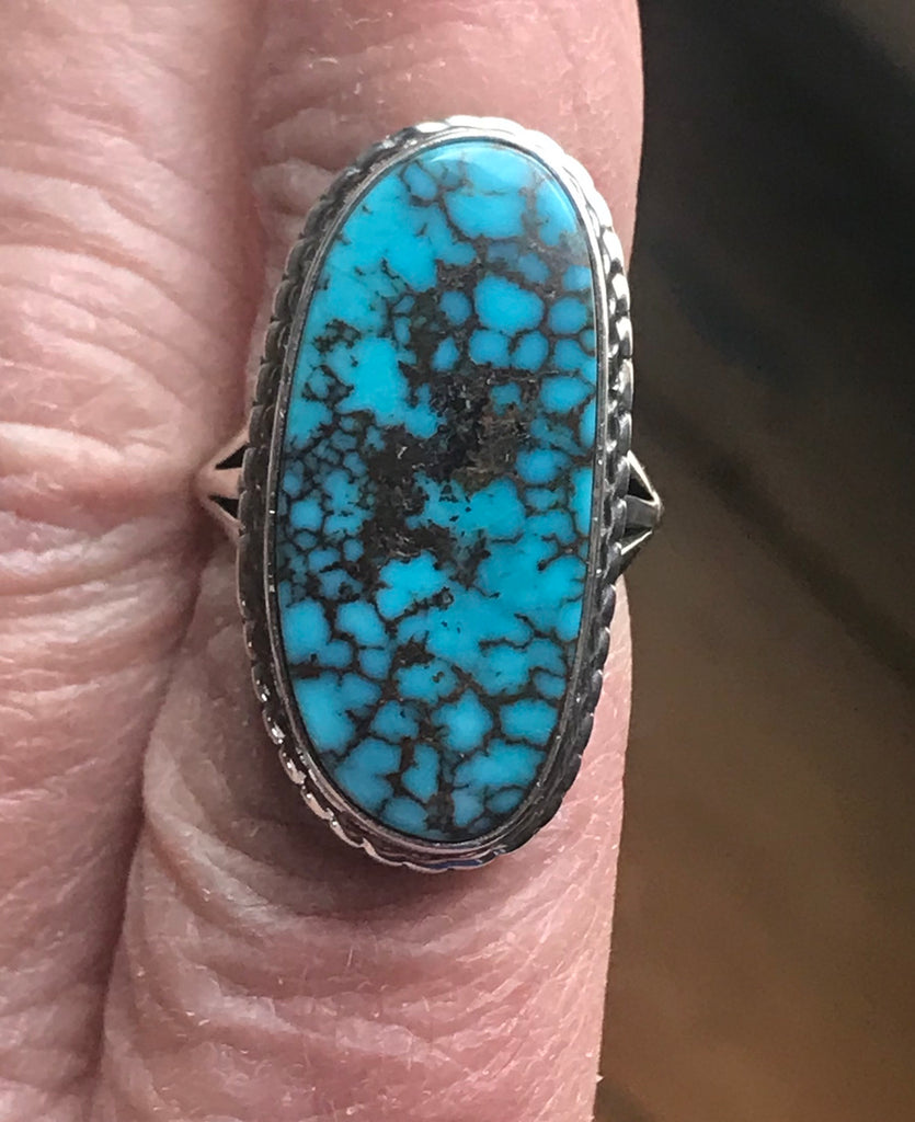 "Ring by Royce Kohlmeyer ""Eagle Boy"" with Red Mountain Turquoise"