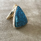 Cloud Mountain Chinese Hubei 14k Gold Turquoise Ring DS15