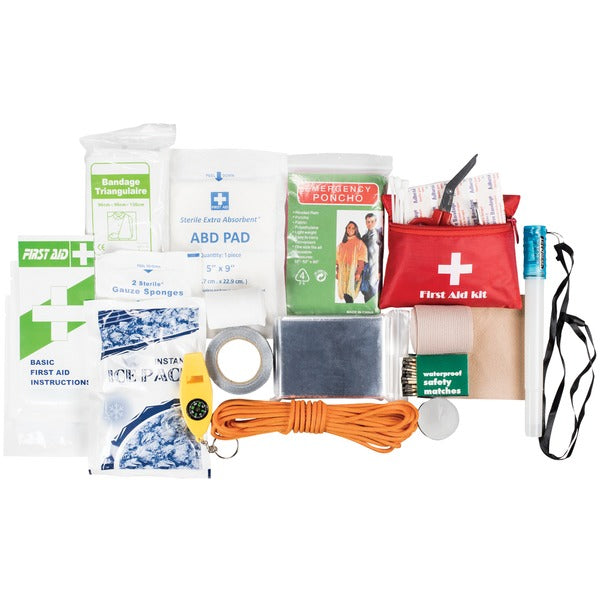 Life Gear 130-Piece Dry Bag First Aid & Survival Kit
