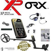 "XP ORX Wireless Metal Detector with Back-lit Display + FX-02 Wired Backphone Headphones + 11"" X35 Search Coil"