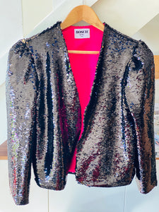 "Black Sequins ""crop"" Jacket"